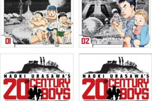 20th Century Boys (vols. 01-04) by Naoki Urasawa, with the cooperation of Takashi Nagasaki, English adaptation by Akemi Wegmüller
