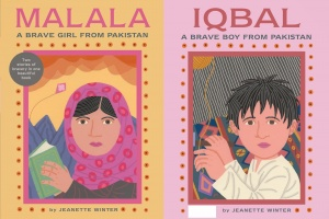 Malala: A Brave Girl from Pakistan | Iqbal:  A Brave Boy from Pakistan by Jeanette Winter