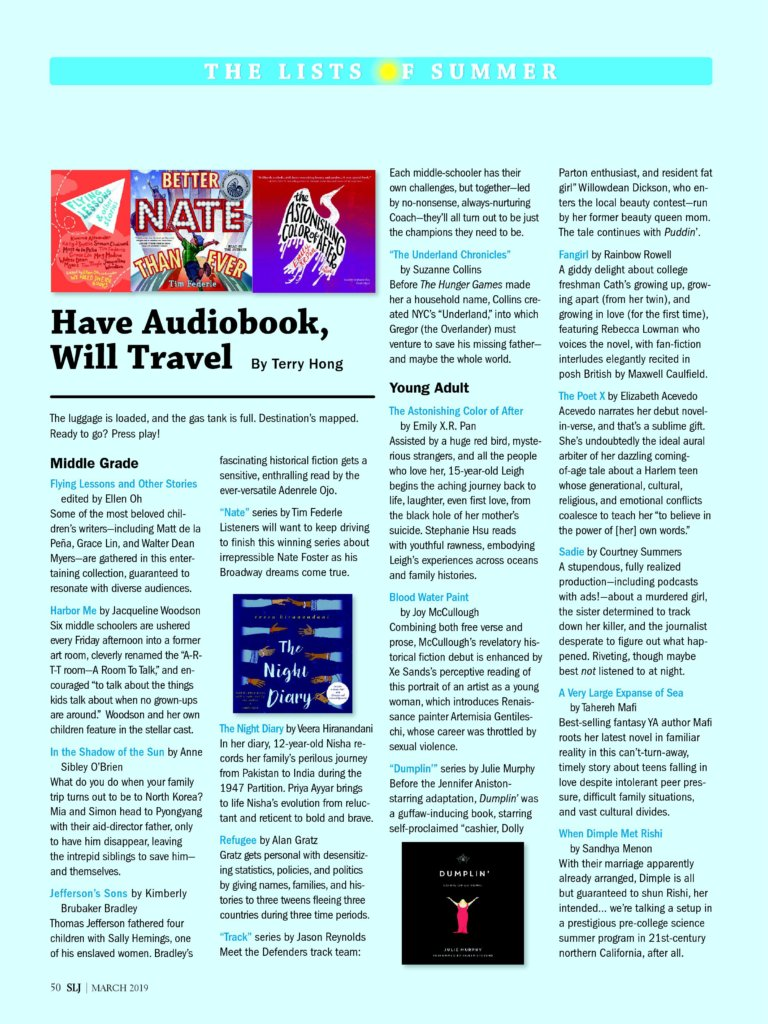 2019 03 01 Have Audiobook, Will Travel School Library