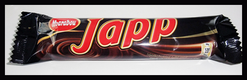 'Japp' is a candy similar to Milky Way.