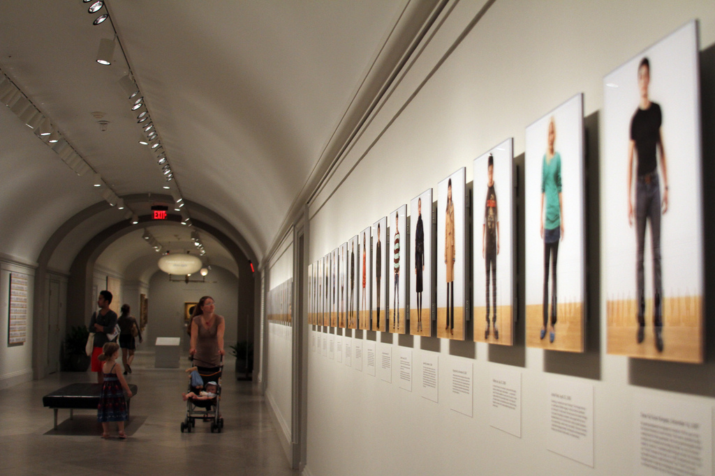 Hallway at NPG where the Asian American Portraits of Encounter exhibition begins.