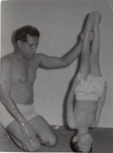 Image: Dipak Pallana using his head with the guidance of his father-cum-trainer circa 1970 (Pallana Family Collection)