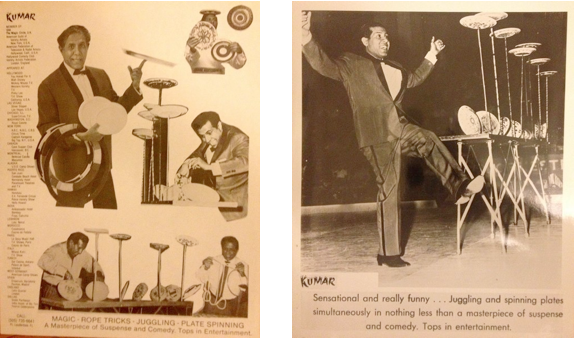 "Images: Kumar of India's ""bag of tricks""as seen in the 50s…"