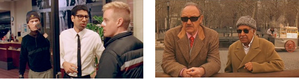 Images (l-r): The Anderson Effect: Dipak Pallana with Luke Wilson and Owen Wilson in Bottle Rocket; Kumar Pallana with Gene Hackman in The Royal Tenenbaums