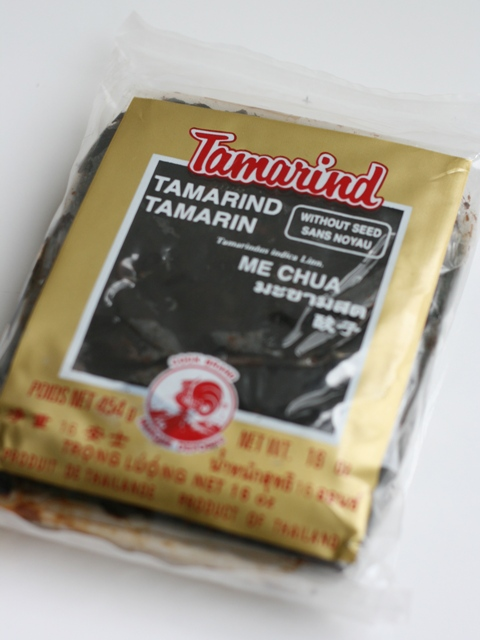 """Coffee-colored wet tamarind is what I use to give pad Thai its zing. And even though it says """"seedless"""" there are bound to be a few seeds lurking!"""