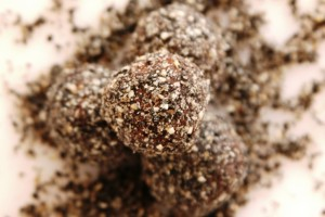 Black Sesame Chocolate Truffles for Valentine's Day